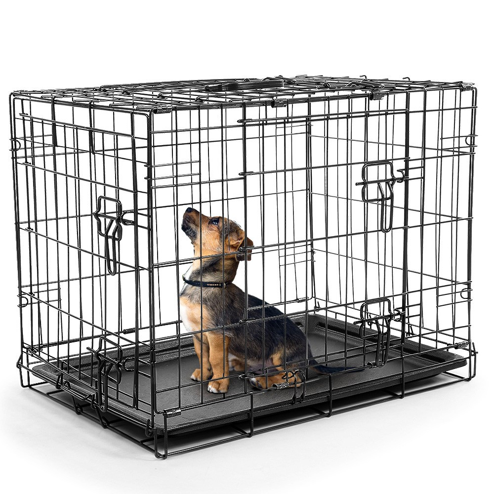 Foldable Steel  Pet Cage Crate Kennel House - 36in