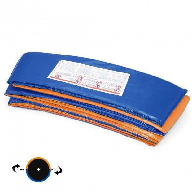 Reversible Replacement Trampoline Spring Safety Pad - Orange/Blue